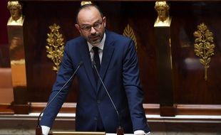 Edouard Philippe à l'Assemblée nationale pour sa déclaration de politique générale, le 4 juillet 2017 à Paris.