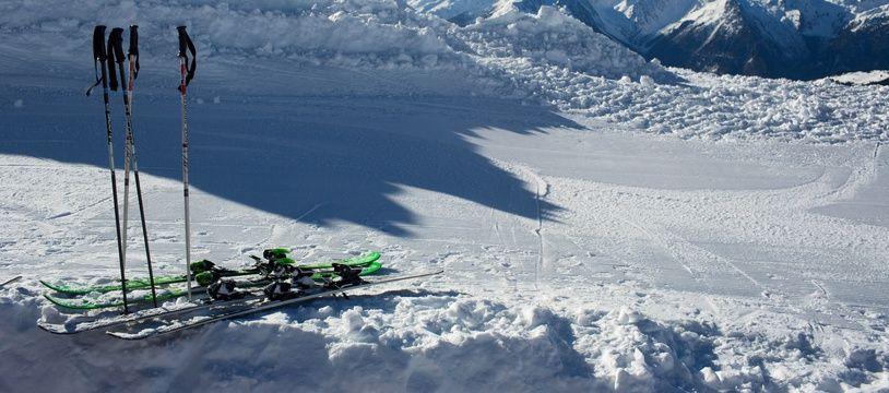 Illustration d'une station de ski.