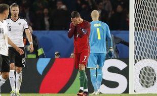 Cristiano Ronaldo a tout raté lors de Portugal-Autriche (0-0), le 18 juin 2016 au Stade de France.