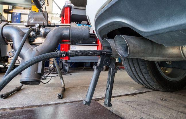 Test antipollution sur une Golf TDI diesel.