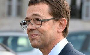 Nicolas Bonnemaison à son arrivée au tribunal le 25 juin 2014 à Pau