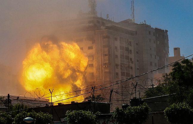 648x415 frappe armee israelienne touche batiment gaza 13 mai 2021