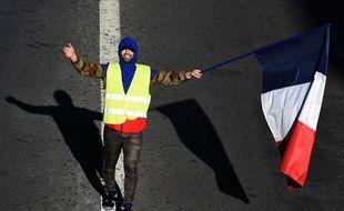 Un «gilet jaune» à Paris lors de l'acte 4 de la mobilisation, le 8 décembre 2018