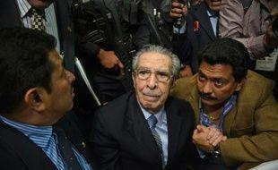 Jose Efrain Rios Montt, lors de son procès le 10 mai 2013 à Guatemala