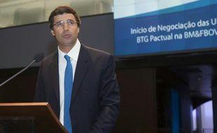 André Esteves, le président de la banque d'investissement brésilienne BTG Pactual le 26 avril 2012 à Sao Paulo