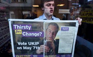 Un partisan du UKIP la veille de l'élection.