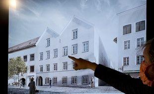 Le futur poste de police qui doit prendre place dans la maison natale d'Hitler.