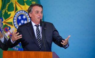 Jair Bolsonaro, président du Brésil, à Brasilia le 26 août 2021.