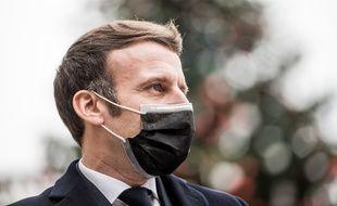 Emmanuel Macron, a l'Elysée, le 16 décembre