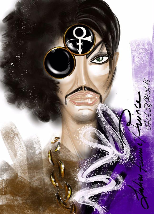 Prince vu par Julien Fournié, iIlustration réalisée sur un iPad Pro pour «20 Minutes».