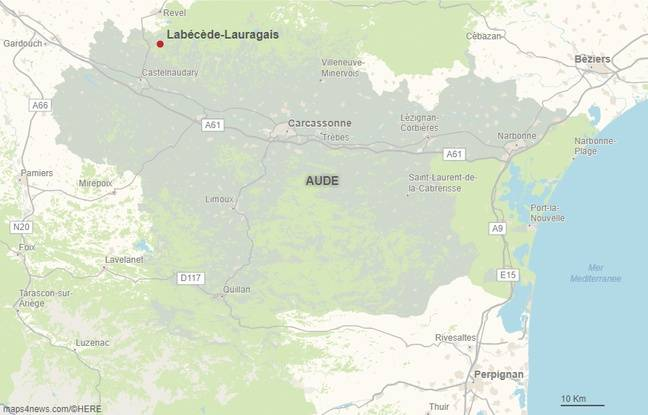 La commune de Labécède-Lauragais dans l'Aude.