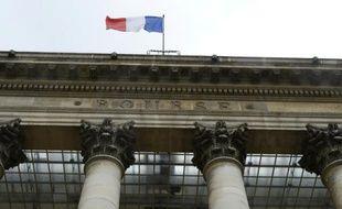 Le Palais Brongniart, ancienne Bourse de Paris, le 24 août 2015