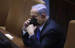 Le Premier ministre israélien Benjamin Netanyahou assiste à une session spéciale de la Knesset, à Jérusalem, le mercredi 2 juin 2021.