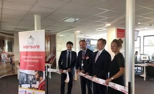 Inauguration des nouveaux locaux de Vérisure à Angers, le 3 juillet 2019.