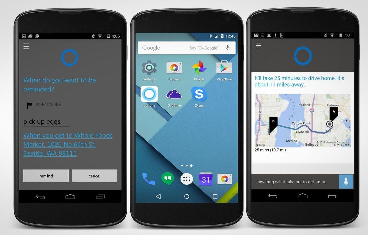 Un téléphone o sous Android. – MICROSOFT