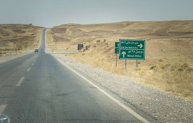 Une route menant à Mossoul, en août 2015.