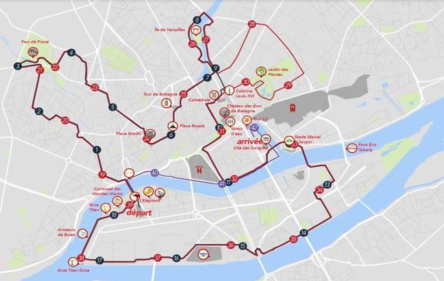 Le parcours du marathon 2020.