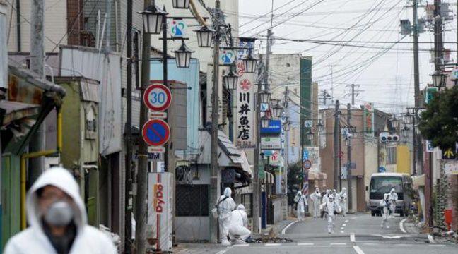 Dans la ville d'Okuma, située à moins de 3km de la centrale de Fukushima, est toujours dans la zone interdite le 2 mars 2012. – Yoichi Hayashi/AP/SIPA