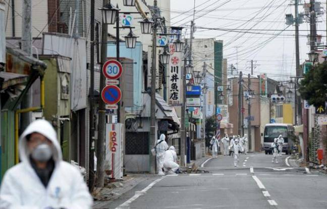 Dans la ville d'Okuma, située à moins de 3km de la centrale de Fukushima, est toujours dans la zone interdite le 2 mars 2012.
