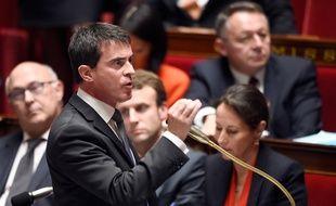 Manuel Valls à l'Assemblée nationale, le 21 octobre 2014.
