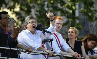 Jean-Luc Mélenchon pendant la fête à macron