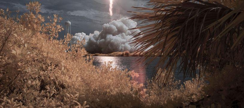 Décollage de la fusée SpaceX depuis Cape Canaveral, en Floride, le 30 mai 2020.