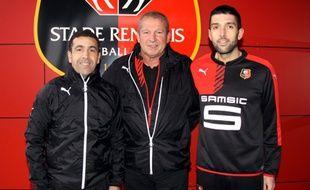 Bouziane Benaraibi (à g.) et Grégory Gaillard (à d.) intègrent le staff technique de Rolland Courbis.