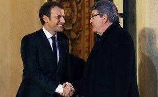 Jean-Luc Mélenchon et Emmanuel Macron en 2017