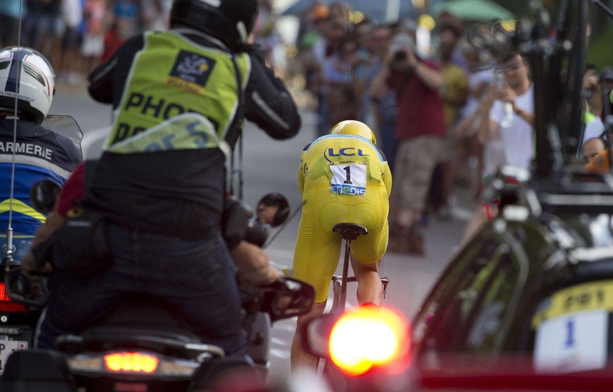 Chris Froome lors du contre-la-montre du 21 juillet 2016. – P. Dejong / AP / SIPA