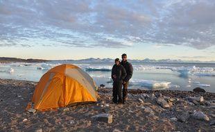 Stéphanie et Jérémie Gicquel lors de leur expédition au Groenland en 2013.