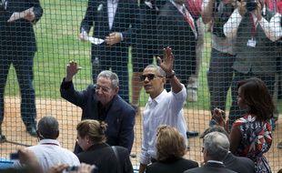 Barack Obama et Raul Castro ont assisté à un match de baseball à La Havane le 22 mars 2016.
