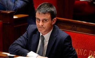 Le Premier ministre Manuel Vallsaprès sa déclaration de politique générale à l'Assemblée nationale à Pairs, le 8 avril 2014