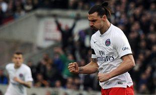 L'attaquant du PSG Zlatan Ibrahimovic, le 15 mars 2015, à Bordeaux.