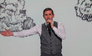 Silvan Areg lors de la première demi-finale de Destination Eurovision, le 12 janvier 2019.