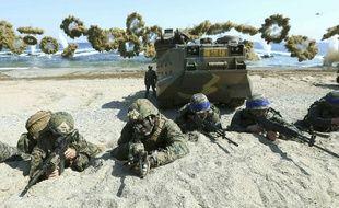 Photo prise lors des exercices militaires annuels conjoints des Etats-Unis et de la Corée du Sud en 2016.