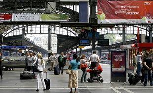 Vue de la gare de l'est à Paris.