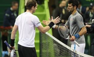 Djoko et Murray au tournoi de Doha en 2017.