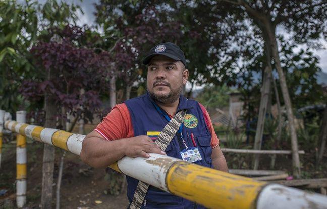 Wildemar Muñoz, coordinateur de la garde paysanne de l'association paysanne Astrazonal de Corinto en Colombie.