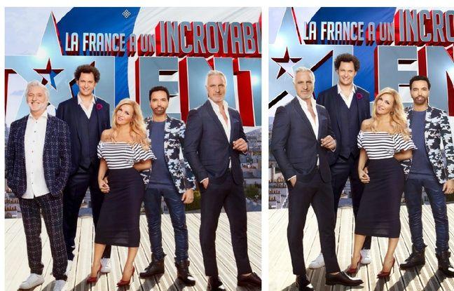 Un visuel promo de la saison 12 de «La France a un incroyable talent» avant et après les révélations sur Gilbert Rozon.