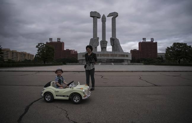 Le monument à la Fondation du parti à Pyongyang.