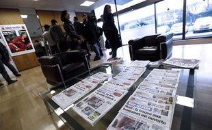 Dans les locaux de «Nice Matin» le jeudi 20 décembre 2012, les journalistes attendent Bernard Tapie, qui vient de mettre la main sur les derniers titres du Groupe Hersant Média, dont fait partie le journal.