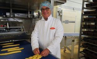 Gilles Fonteneau, le fondateur de la société éponyme, a mis la main à la pâte pour le tressage.