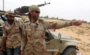 L'Américain Matthew VanDyke, le 2 octobre 2011 à Syrte, en Libye