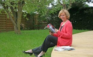 Muriel Pénicaud, dans sa maison du Crotoy (Somme), en 2012