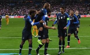 Les Bleus lors de France-Moldavie le 14 novembre 2019.