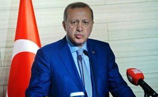 Le président turc Recep Tayyip Erdogan lors d'une conférence de presse à Mogadiscio, en Somalie, le 3 juin 2016