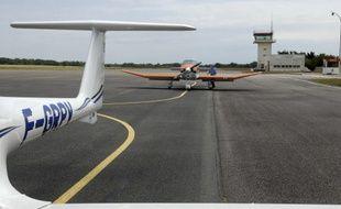 L'aérodrome de Vannes-Monterblanc, dans le Morbihan.