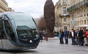 Tramway du réseau de transport public TBC à Bordeaux