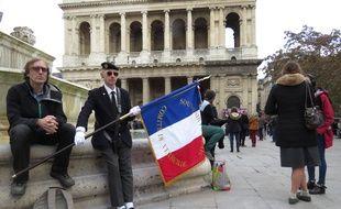 Le parvis de Saint-Sulpice ce lundi pour la messe en l'honneur de Jacques Chirac
