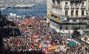 Manifestation à Marseille contre la réforme des retraites le 24 juin 2010.